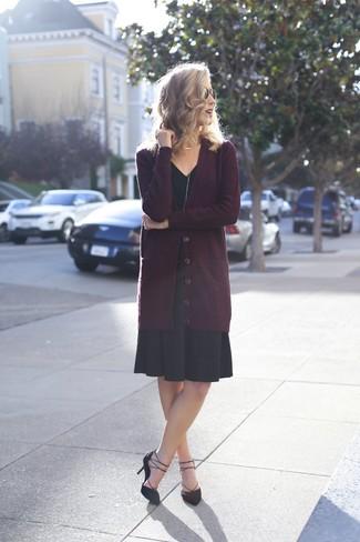 6243c58e343 How to Wear a Black Midi Dress (92 looks   outfits)