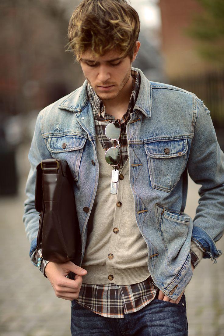 Light Blue Jean Jacket Jacket And Dark Blue Jeans
