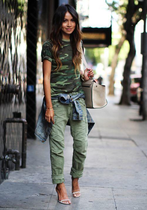 How to Wear Dark Green Cargo Pants (14 looks) | Women's Fashion