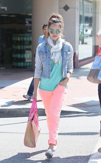 Wildfox Marianne Light Pink Skinny Jeans