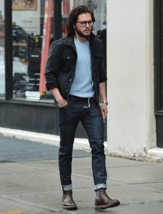 How to Wear a Denim Jacket (246 looks) | Men&39s Fashion