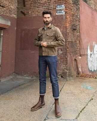 Wayde Leather Combat Boot Brown