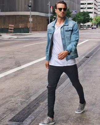 outfits with grey sneakers