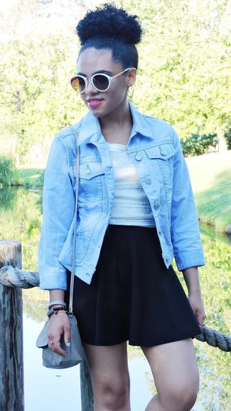 ed4089217d How to wear Forever 21 Distressed Denim Jacket. Distressed Denim Jacket