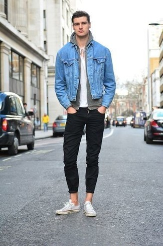 Light Blue Denim Jacket | Men's Fashion