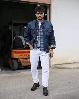 Caden Modern Fit Plaid Flannel Button Up Shirt