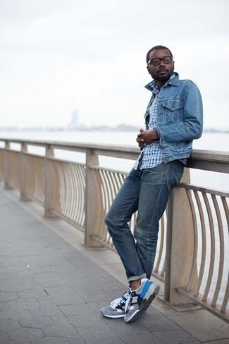 Slim Fit Appliqud Stretch Denim Jeans
