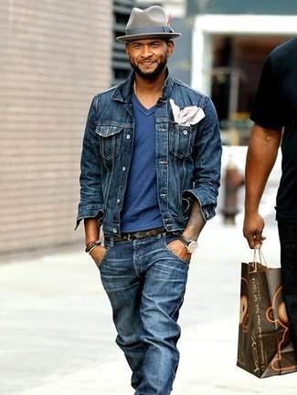 Navy Denim Jacket | Men's Fashion