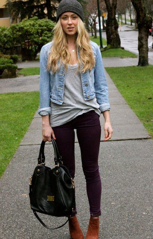 Light denim shirt dark denim jeans