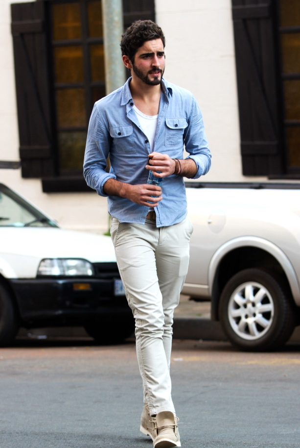 How to Wear a Light Blue Denim Shirt (91 looks) | Men's Fashion