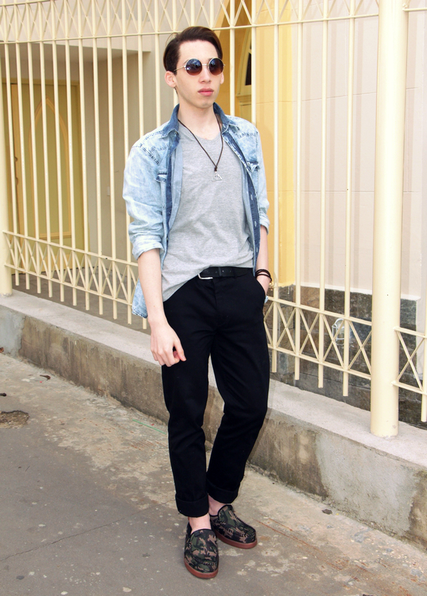 Black Chinos Outfit Shirt And Black Chinos For