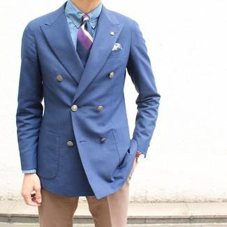 75cm Striped Silk Jacquard Tie