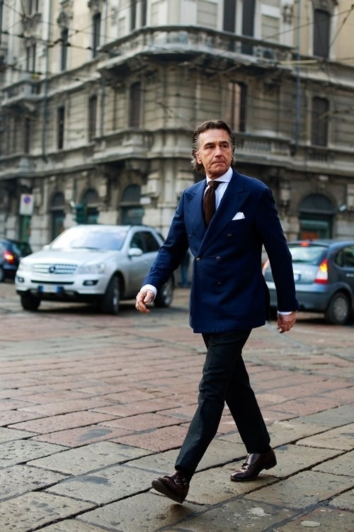 How To Wear a Navy Blazer With Black Pants | Men's Fashion