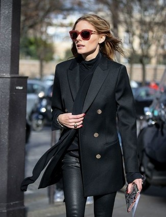d129eb61b87 ... Olivia Palermo wearing Black Double Breasted Blazer