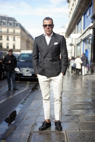 How To Wear a Grey Blazer With White Pants | Men's Fashion