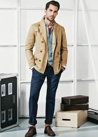 Light Brown Blazer Men | Fashion Ql