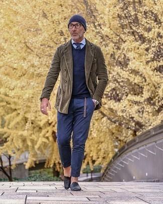 A List Corduroy Skinny Fit Suit Jacket