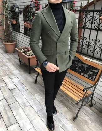 bd1ecd51fe2e How to Wear a Dark Green Double Breasted Blazer For Men (13 looks ...