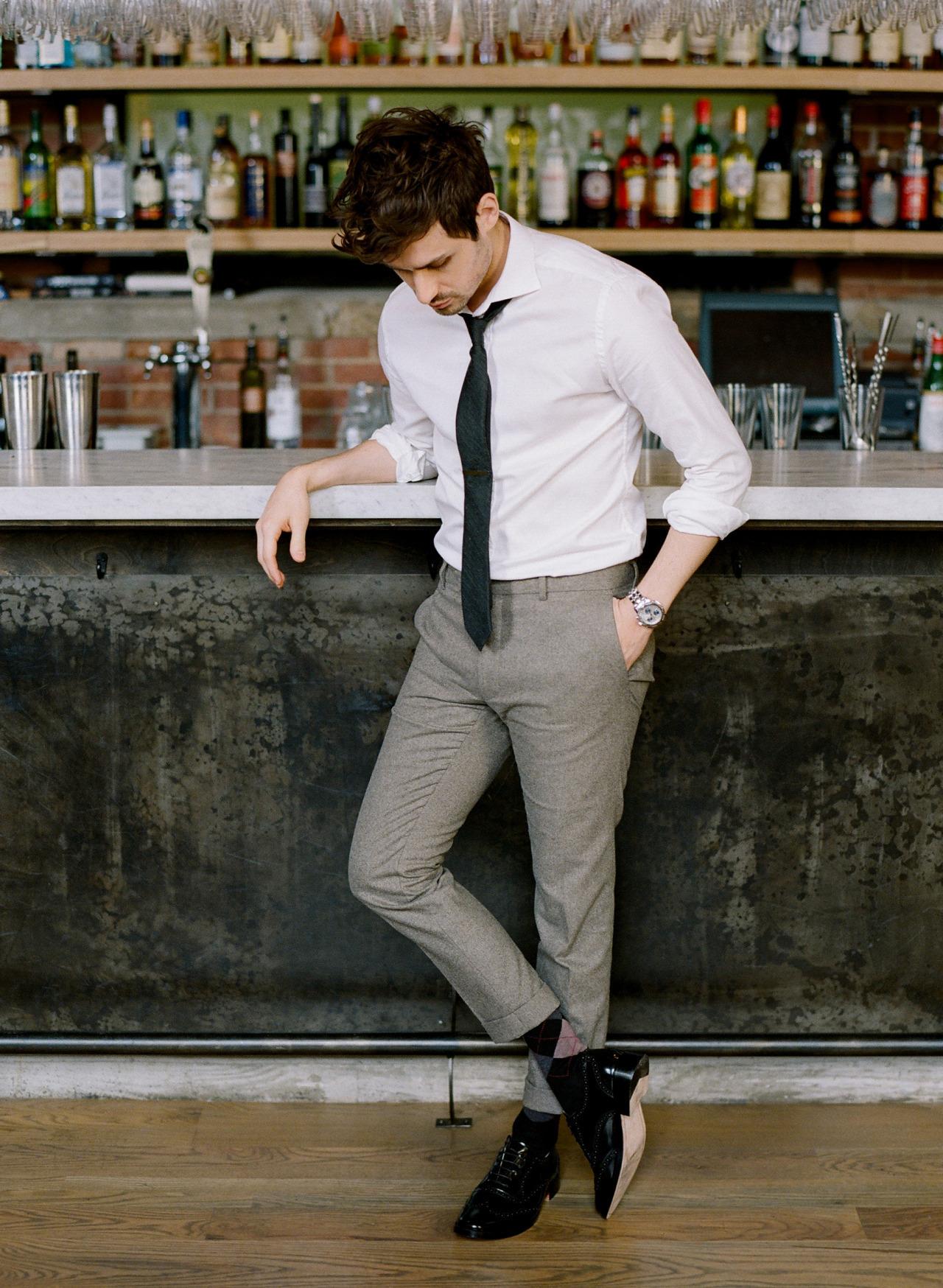 How to Wear Grey Wool Dress Pants (153 looks) | Men's Fashion