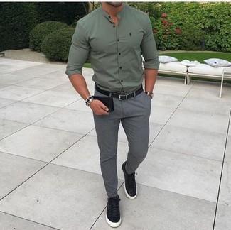 32bd760bb1e75 ... Men s Olive Dress Shirt