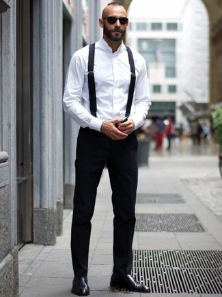Black dress pants white shirt