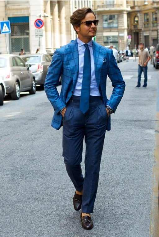 Blue Pants Dress Shirt