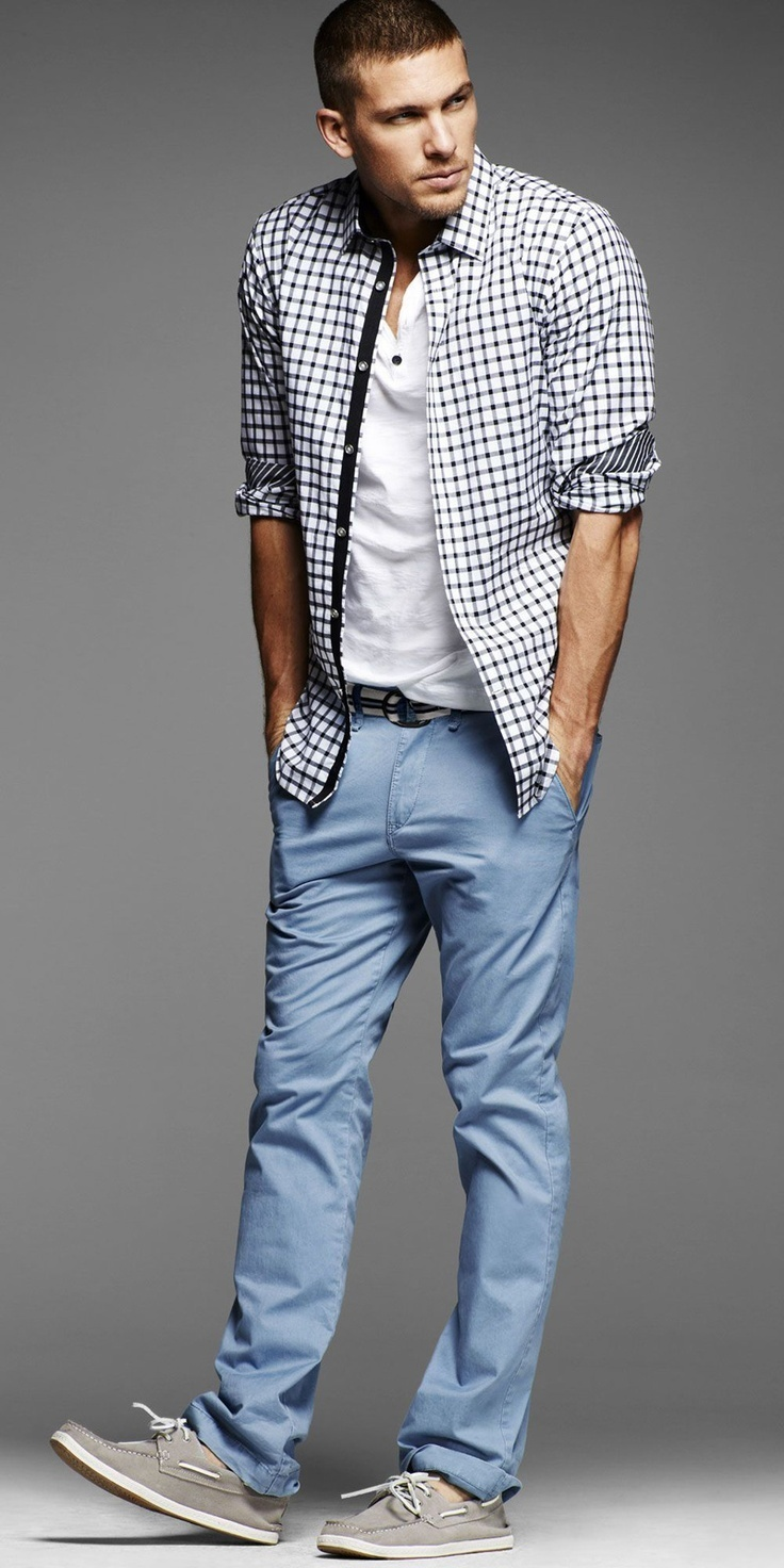 How to Wear Light Blue Chinos (40 looks) | Men\'s Fashion