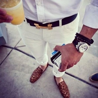 Jeans Slim Fit White Jeans