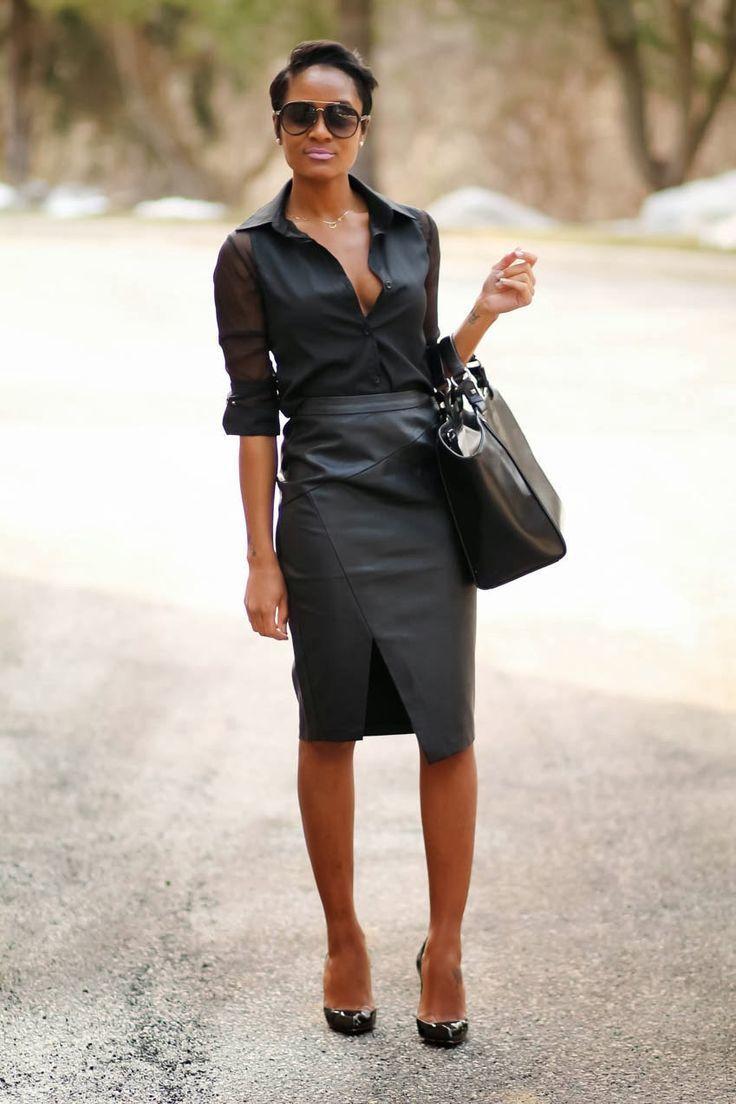 How To Wear A Black Chiffon Dress Shirt For Women 12 Looks