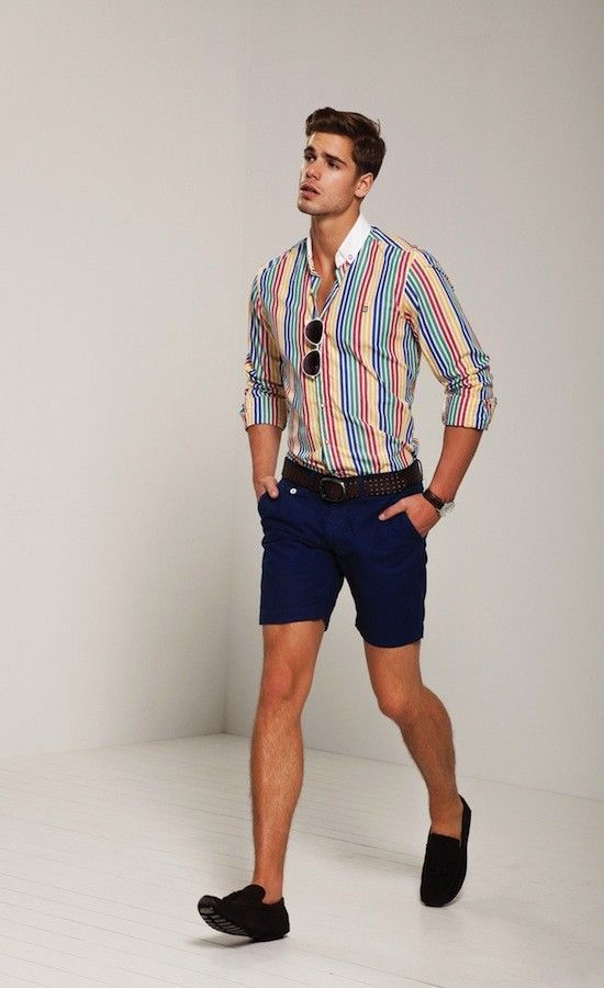 How To Wear a Dress Shirt With Navy Shorts   Men's Fashion