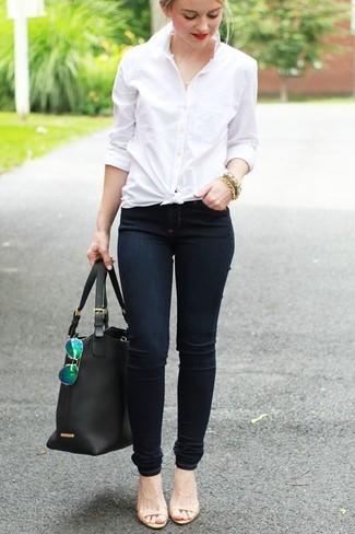 bf14f5e2b62 ... Women s White Dress Shirt