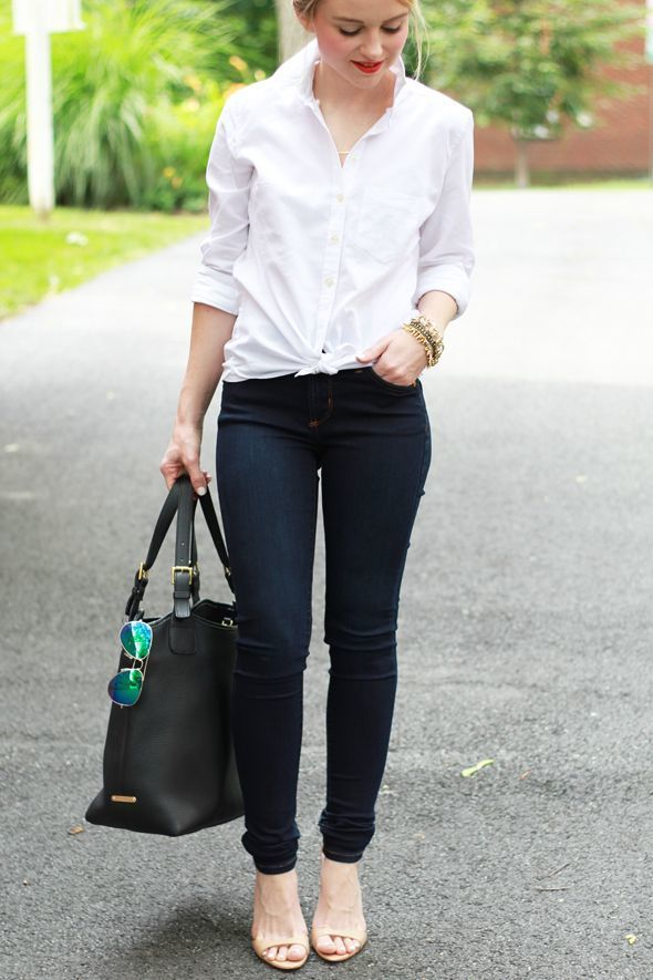 Dress JeansBeige Women's White Heeled Leather ShirtNavy Skinny TlK3FJ1c
