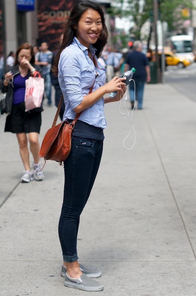 How to Wear Grey Slip on Sneakers For Women (40 looks