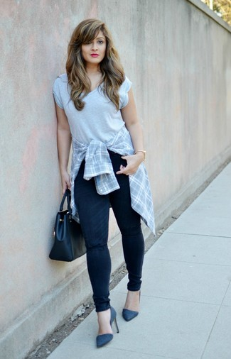 A New Day Plaid Any Day Tunic Shirt