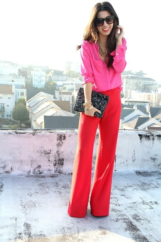 How to Wear a Hot Pink Shirt (25 looks) | Women's Fashion