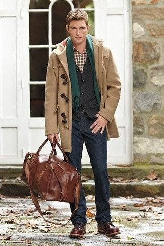 How to Wear a Camel Duffle Coat (17 looks) | Men's Fashion