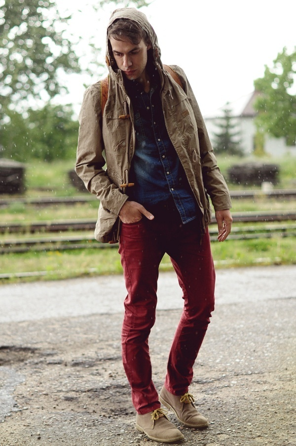 5e908ed9f6 How to Wear Burgundy Jeans For Men (34 looks   outfits)