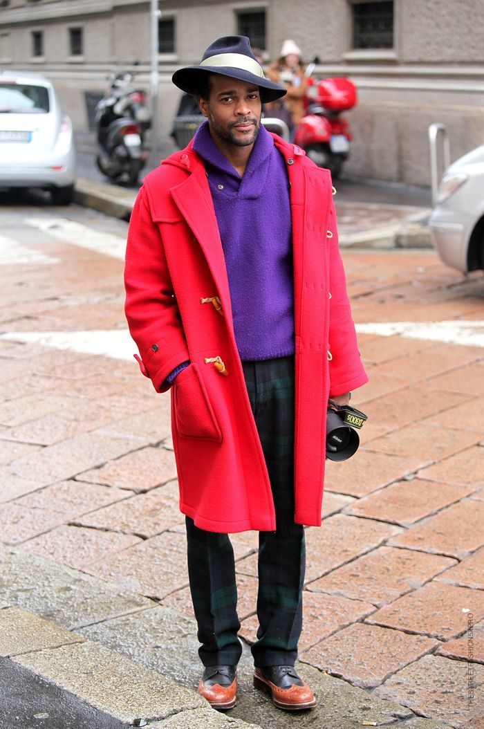 How to Wear a Red Duffle Coat (7 looks) | Men&39s Fashion