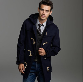 Brit Waterproof Duffle Coat Navy