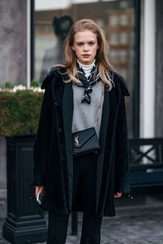 How to silk wear scarf with coat photo