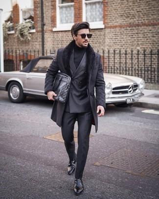 Slim Fit Brushed Coat