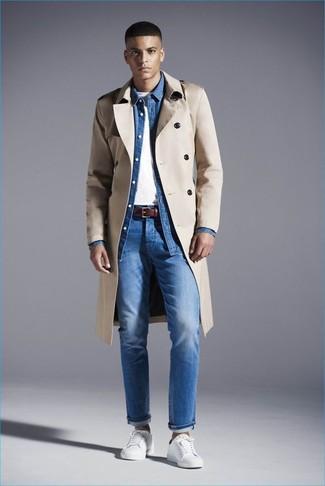 Camisa vaquera azul de Denim & Supply Ralph Lauren