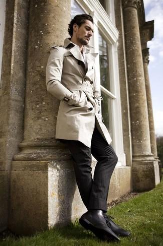 1bc3f4e222d ... hombres de 30 años Look de moda  Gabardina en beige