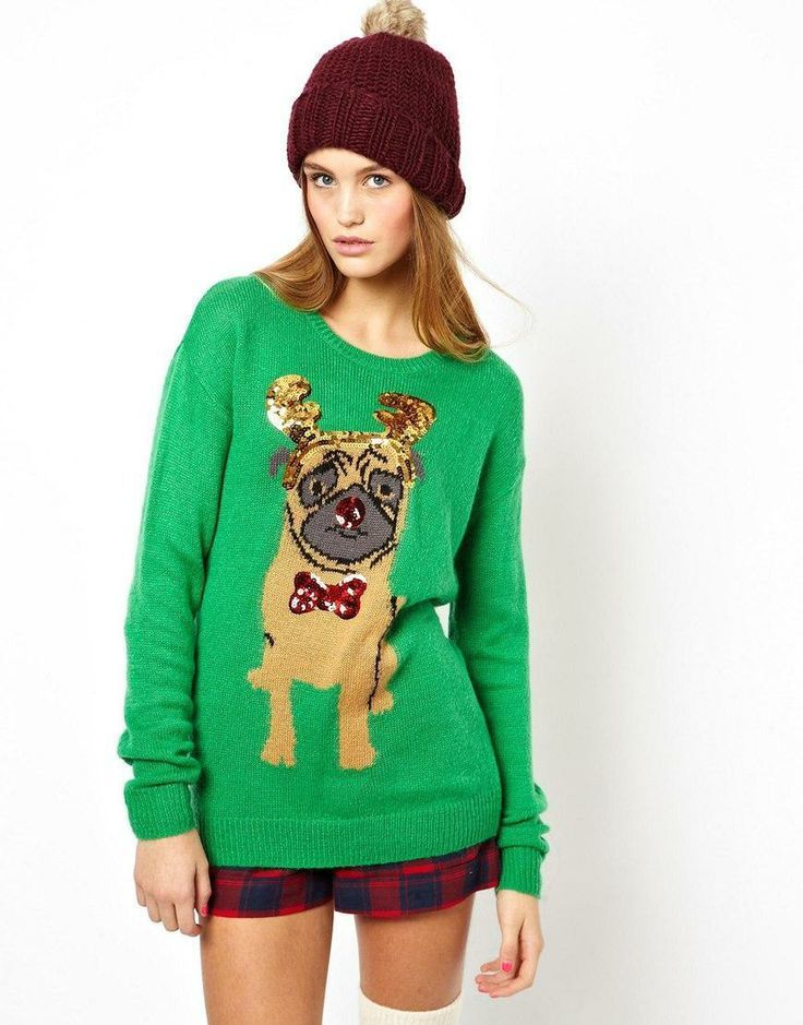 Women's Green Fair Isle Crew-neck Sweater, Red and Navy Plaid ...