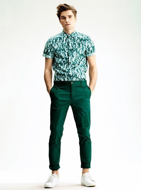 How to Wear Dark Green Chinos (161 looks) | Men's Fashion