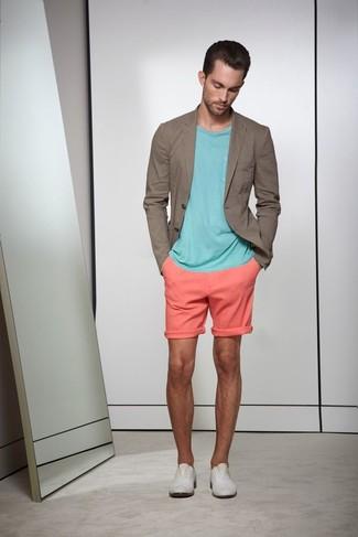 Skinny Fit Marl Jersey Blazer