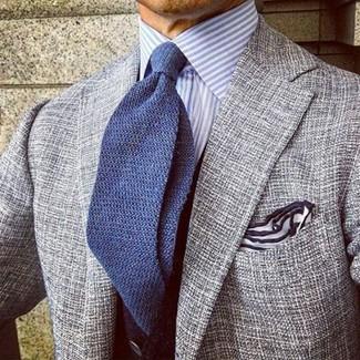 Blue Banker Classic Fit Stripe Dress Shirt