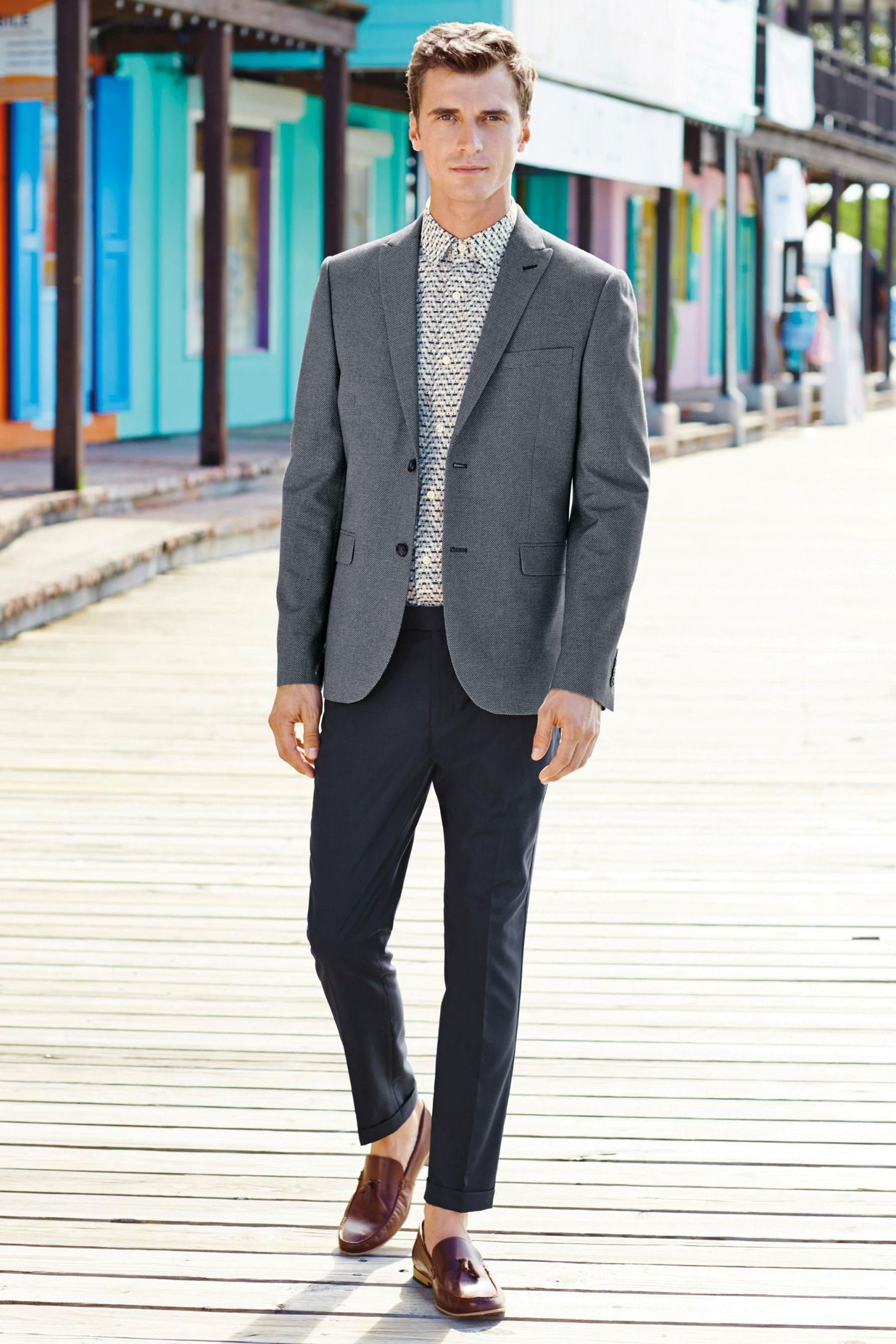 How To Wear a Grey Blazer With Charcoal Dress Pants | Men's Fashion