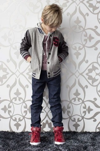 Boys 8 20 I Extreme Wool Bomber Jacket