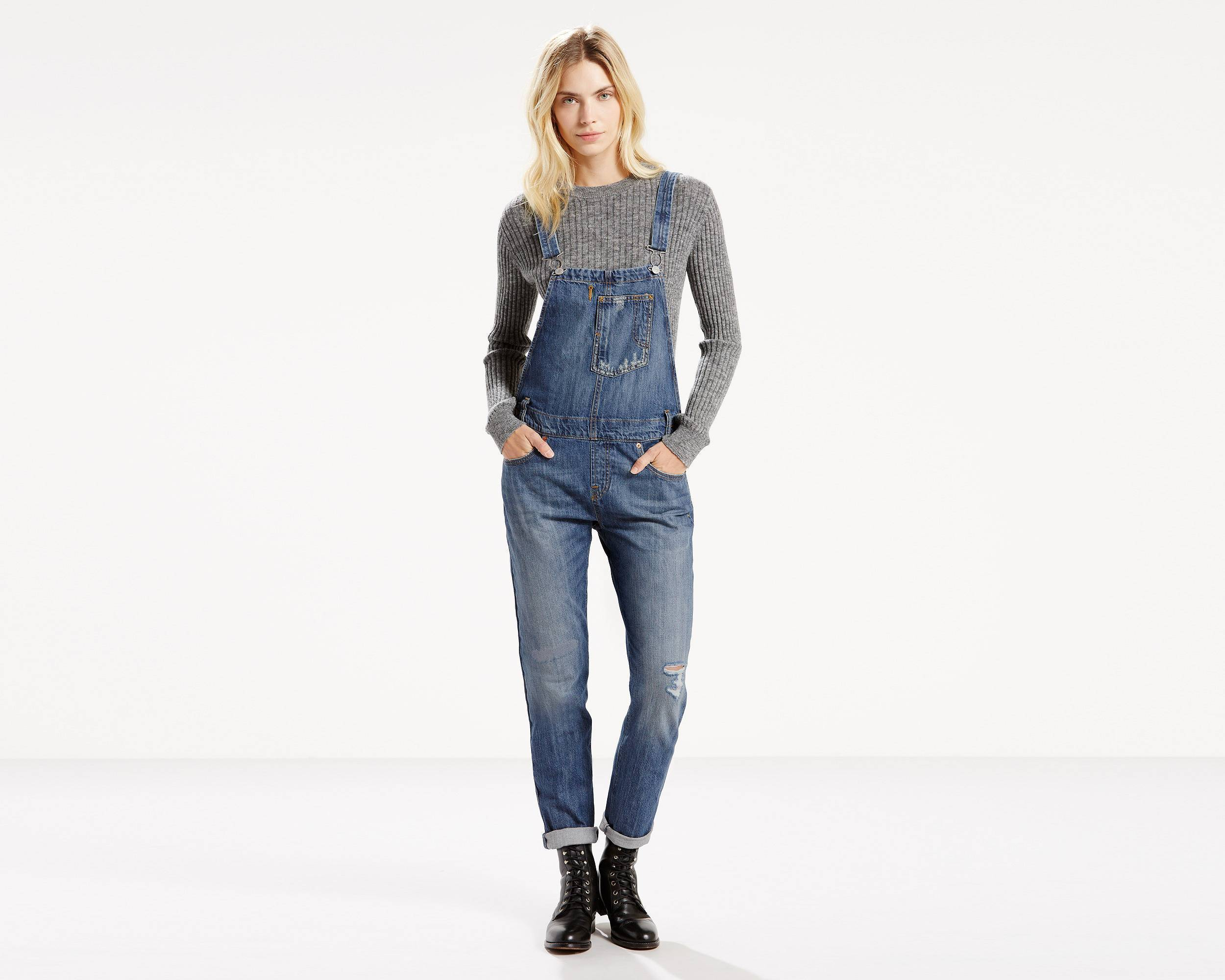a1f830aac16 Which Overalls To Wear With Black Lace-up Flat Boots (3 looks ...